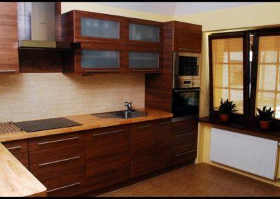 1226. Кухня по поръчка МДФ естествен фурнир череша