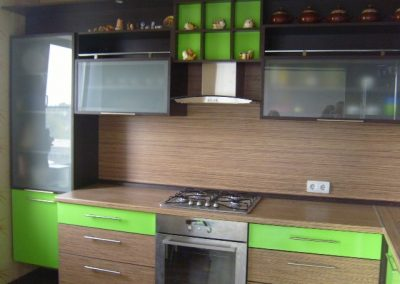 1427. Кухня по поръчка от ПДЧ венге,зебрано и зелено