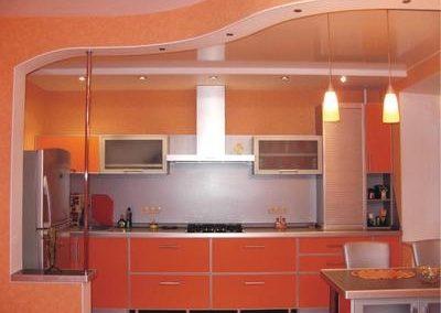 1433. Кухня по поръчка от ПДЧ оранжево
