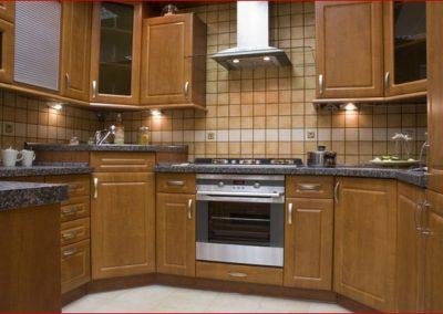 1603. Кухня по поръчка от МДФ с PVC покритие елша