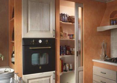 1609. Кухня по поръчка от МДФ с PVC покритие избелен дъб