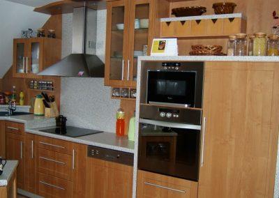 1610. Кухня по поръчка от МДФ с PVC покритие елша