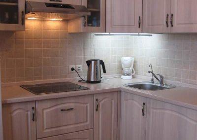 1626. Кухня по поръчка от МДФ с PVC покритие избелен дъб