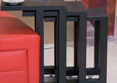 2328. Комплект холни масички по поръчка от МДФ фурнир венге