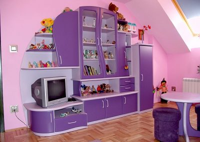 2405. Обзавеждане за детска стая по поръчка - секция за детска стая от МДФ