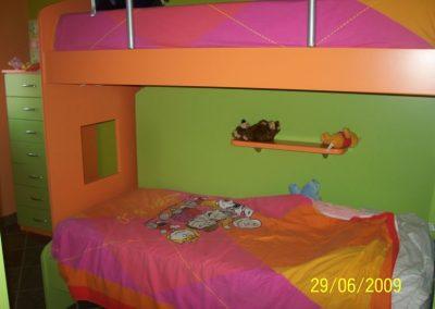 2416. Обзавеждане за детска стая по поръчка от МДФ оранжево и зелено