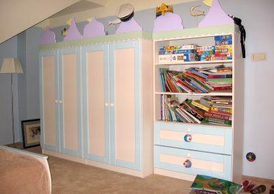 2418. Обзвеждане за детска стая по поръчка от МДФ пастелно зелено, розово и лилаво