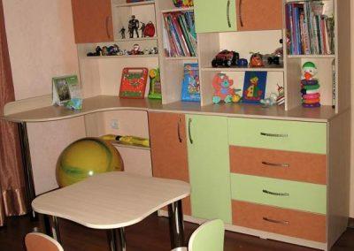 2431. Обзавеждане за детска стая по поръчка от ПДЧ зелено и теракота