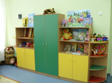 2442. Обзавеждане за детска градина по поръчка от ПДЧ бук,синьо,зелено,червено,жълто