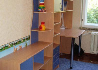 2447. Обзавеждане за детска стая по поръчка от ПДЧ бук и синьо