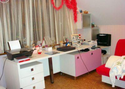 2462. Обзавеждане за детска стая по поръчка от ПДЧ и МДФ бяло и розово