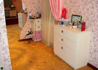 2463. Обзавеждане за детска стая по поръчка от ПДЧ и МДФ бяло и розово