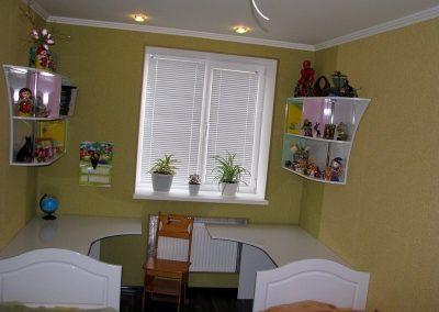 2464. Обзавеждане за детска стая по поръчка от МДФ бяло, розово и светло зелено