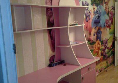 2469. Обзавеждане за детска стаяпо поръчка от ПДЧ бяло и розово