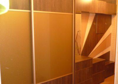 2627. Обзавеждане за антре(коридор) по поръчка ПДЧ дъб с гардероб с плъзгащи врати