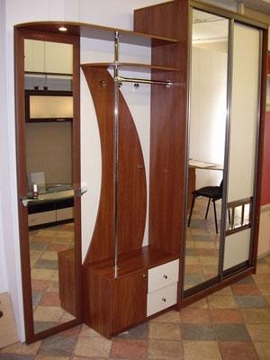 2630. Обзавеждане за антре(коридор) по поръчка ПДЧ калвадос и крем с гардероб с плъзгащи врати