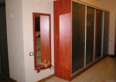 2652. Обзавеждане за антре(коридор) по поръчка ПДЧ калвадос с гардероб с плъзгащи врати