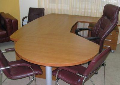 2715. Офис мебели по поръчка ПДЧ череша