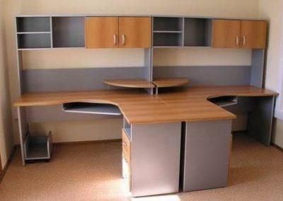 2718. Офис мебели по поръчка ПДЧ елша и сиво