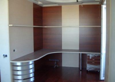 2721. Офис мебели по поръчка ПДЧ венге и алуминий