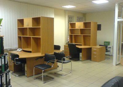 2722. Офис мебели по поръчка ПДЧ дъб