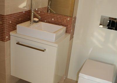 2809. Шкаф за баня по поръчка от МДФ или PVC бял гланц