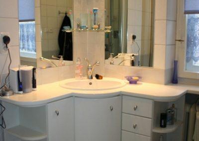 2810. Шкаф за баня по поръчка от МДФ бял мат