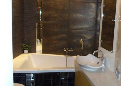2815. Шкаф за баня по поръчка от МДФ или PVC жълто и бяло гланц