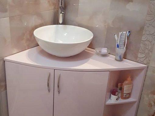 Шкаф за баня от ПВЦ с обли врати